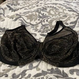 Elomi 42 G black and nude bra